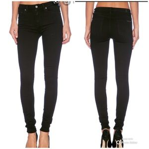 7 for all Mankind High Rise Black Jeans